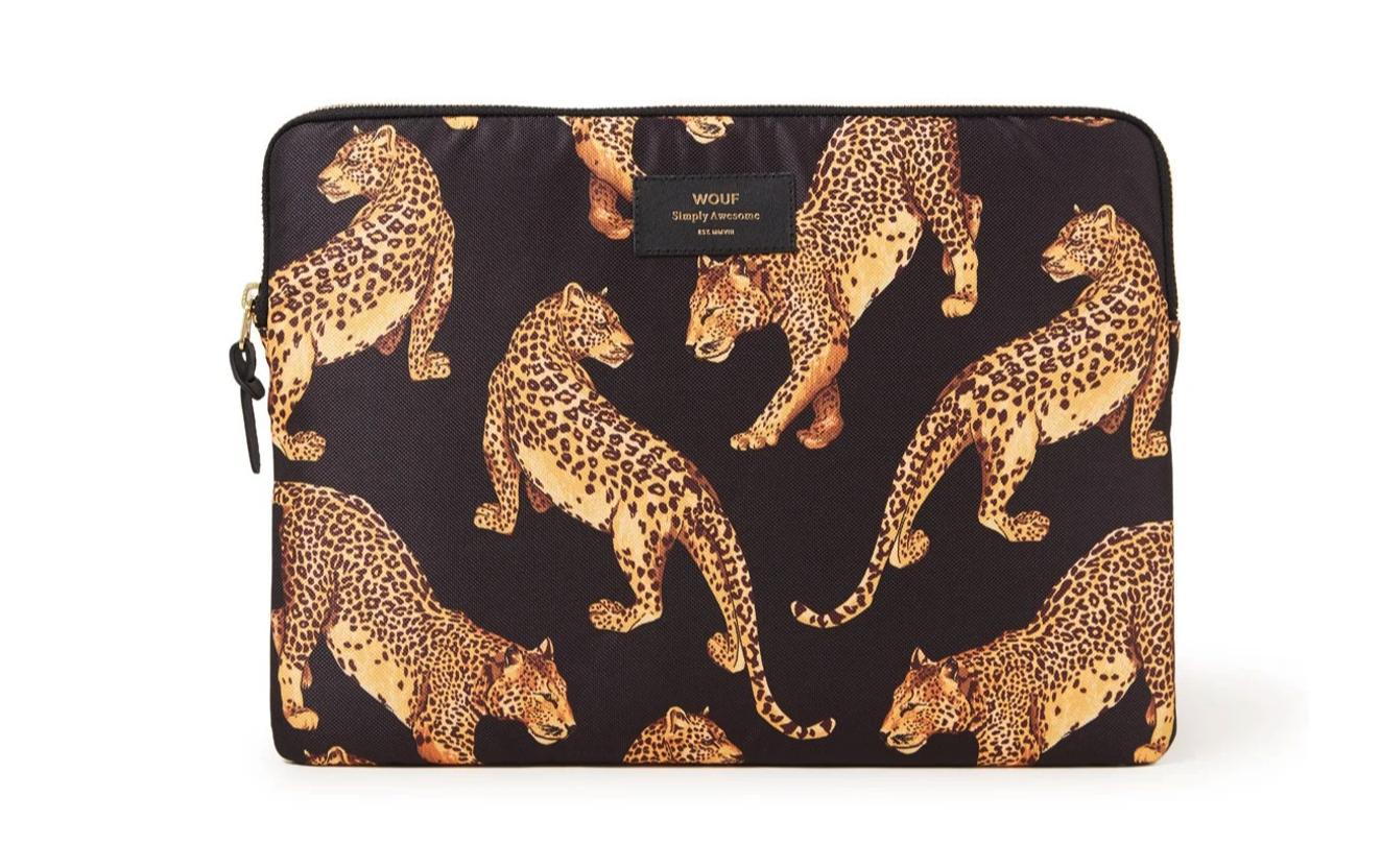 MacBook laptophoes met luipaard print