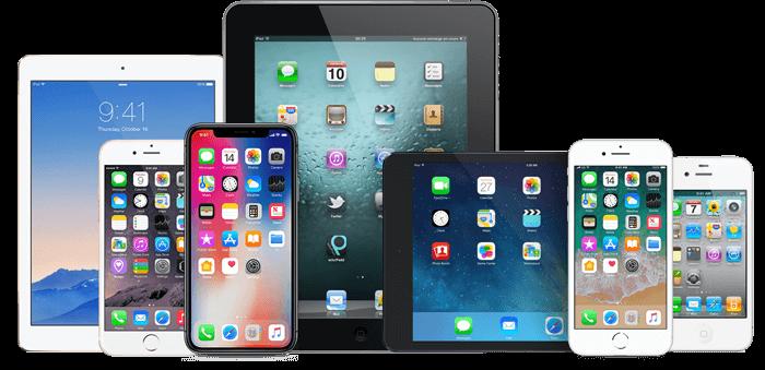 Meerdere iOS devices zoals een iPad en iPhone in beeld - mobile device management