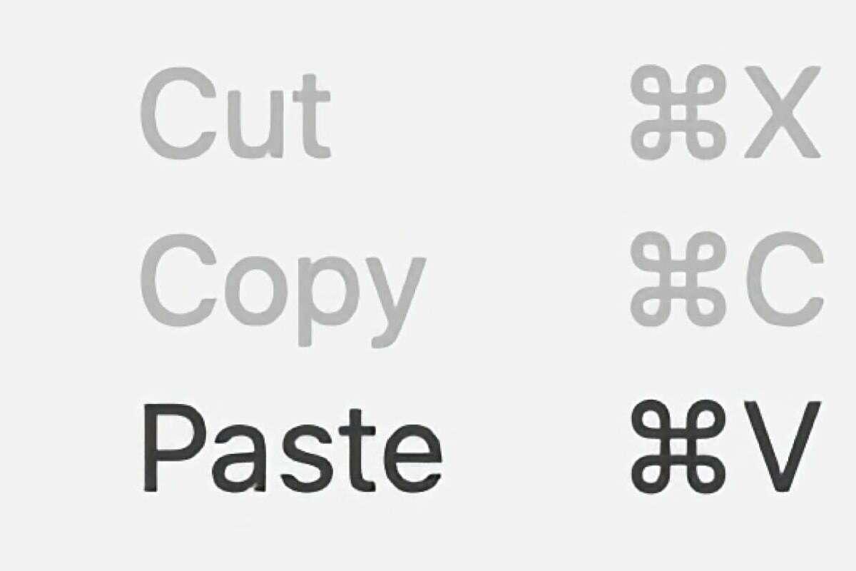 De verschillende toetsencombinaties om te kopieren, knippen en plakken op de mac