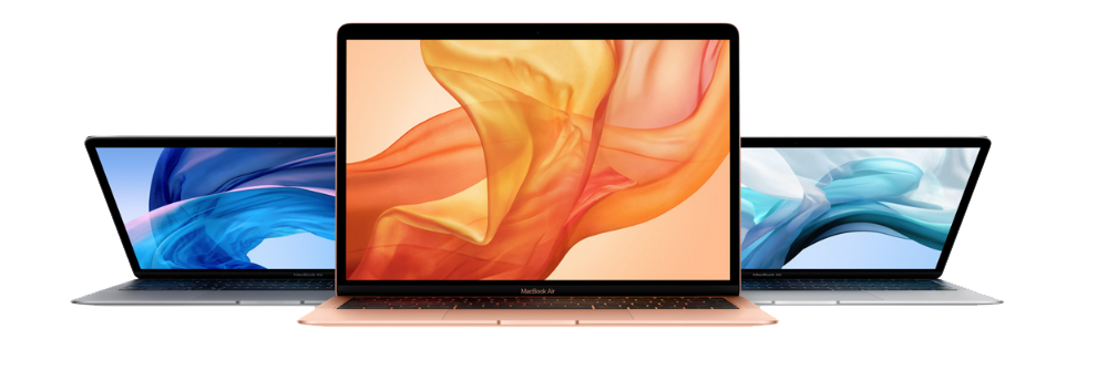 Drie MacBooks nieuw Apple
