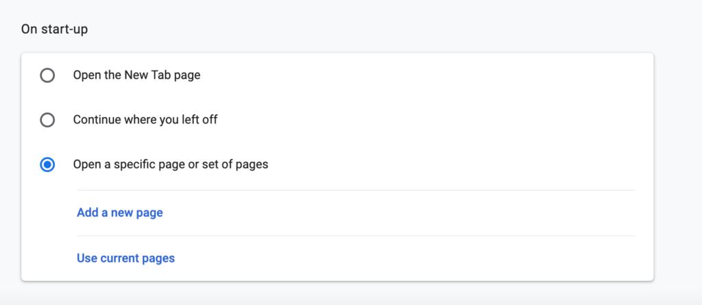Automatisch openen van webpagina's op Chrome