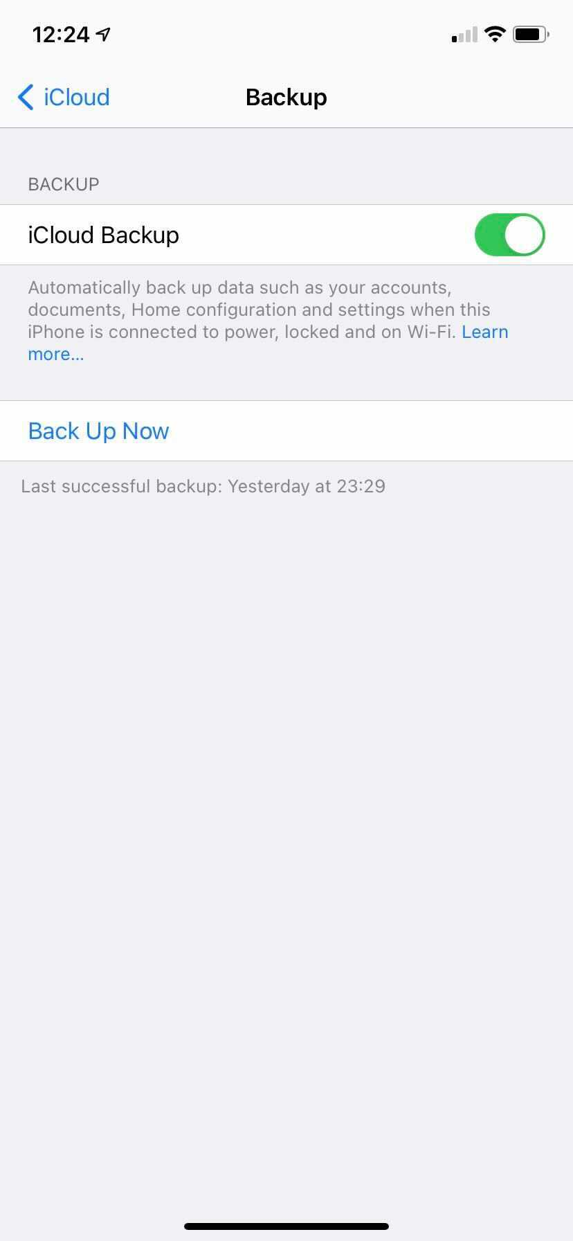 Apple backup iPhone