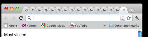 Een voorbeeld van een browser met heel veel tabbladen open