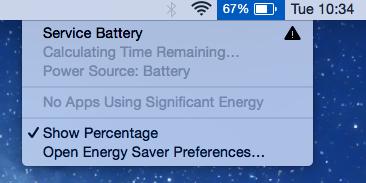 Mac batterij onderhoud melding