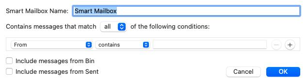 Slimme mailbox gebruiken in Apple mail